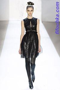Платье из черной металлизированной ткани