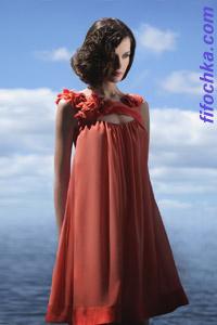 Коктейльное платье в греческом стиле