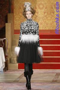 Осенняя русская коллекция платьев Chanel